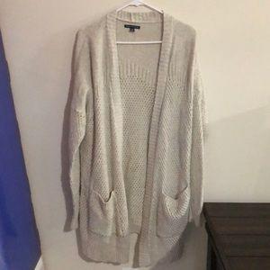 Fuzzy oversized cardigan